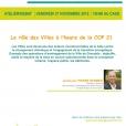 Le rôle des Villes à l'heure de la COP 21